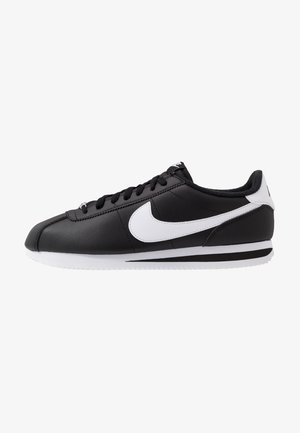 CORTEZ BASIC - Trainers - black/white/metallic silver