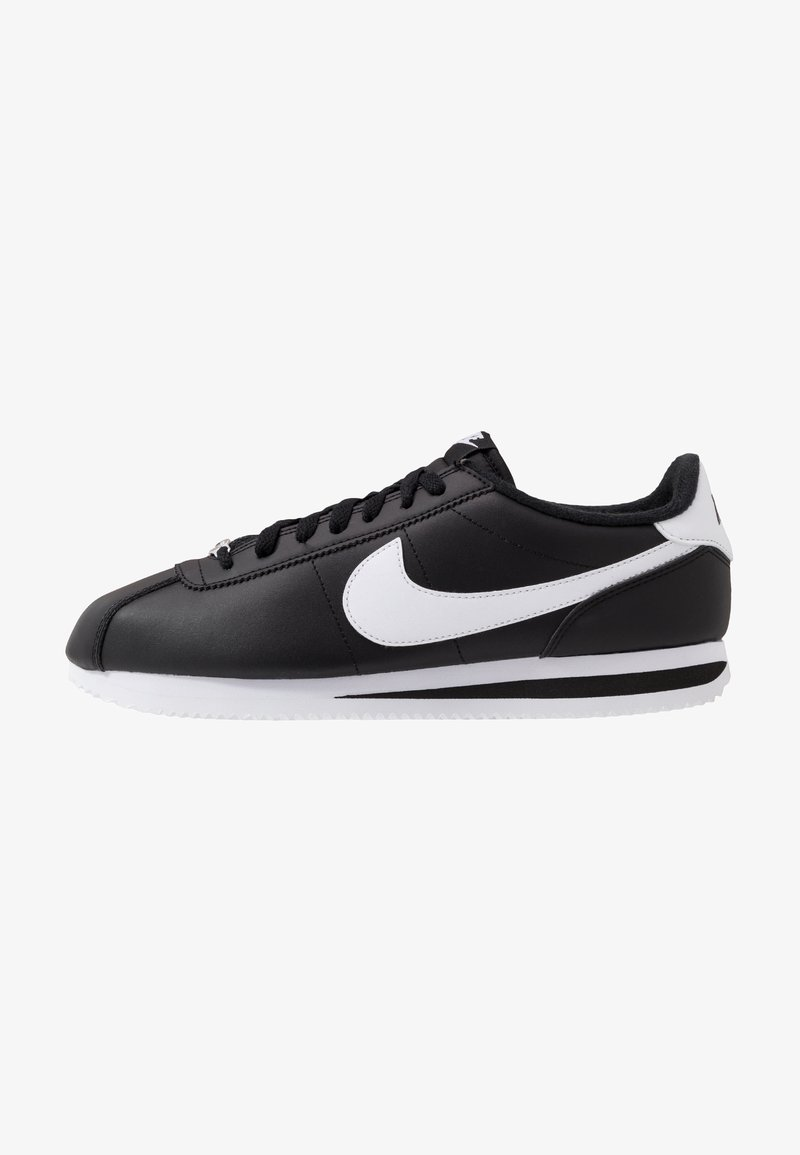 Nike Sportswear - CORTEZ BASIC - Trainers - black/white/metallic silver