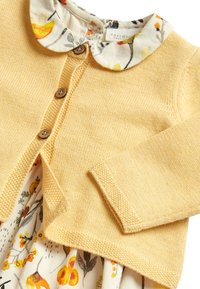 Next - OCHRE PROM DRESS AND CARDIGAN SET (0MTHS-2YRS) - Cardigan - yellow