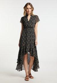 DreiMaster - Maxi dress - schwarz geblümt - 0