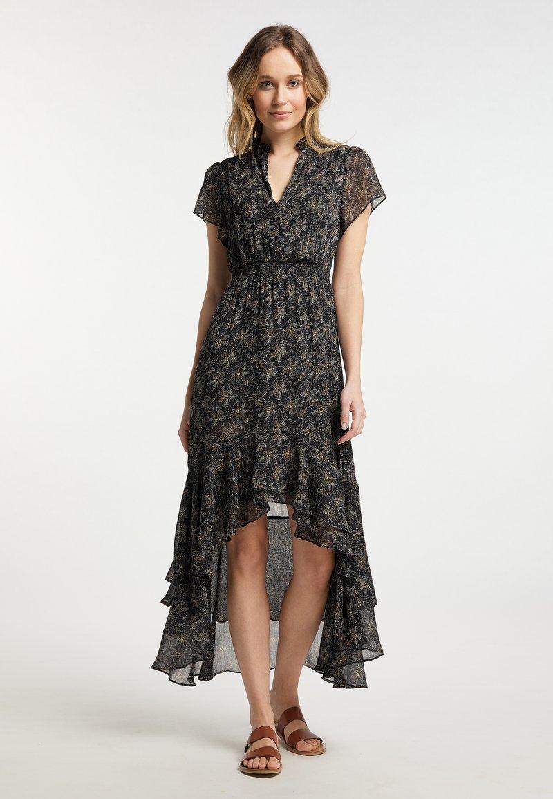 DreiMaster - Maxi dress - schwarz geblümt