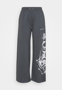 Missguided Plus - PLUS SNAKE MISSGUIDED - Tracksuit bottoms - charcoal - 0