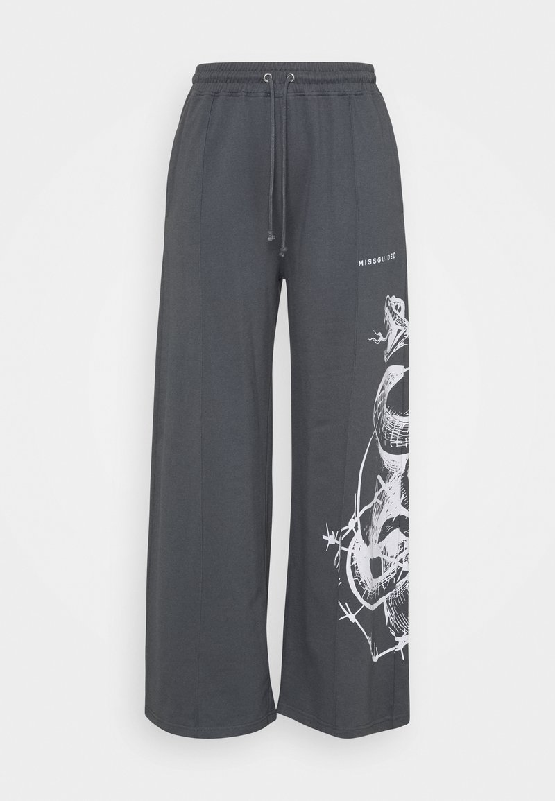 Missguided Plus - PLUS SNAKE MISSGUIDED - Tracksuit bottoms - charcoal