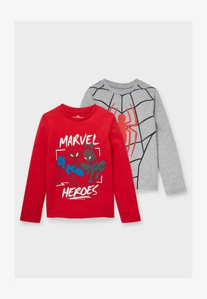2 PACK MARVEL, SPIDER-MAN - Long sleeved top - red/gray
