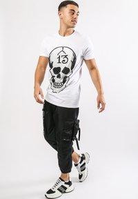 Ed Hardy - SKULL-13 T-SHIRT - Print T-shirt - white - 1