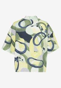 Monki - INA 2 PACK  - T-shirts - yellow/khaki green - 1