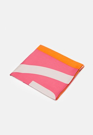 COLOR BLOCK LOGO SQUARE  - Foulard - bright fuchsia/orange