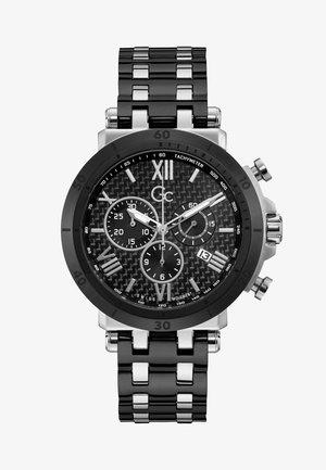 Chronograph watch - black & silver
