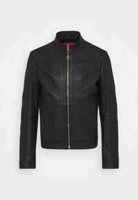 HUGO - LOKIS - Leather jacket - black - 4