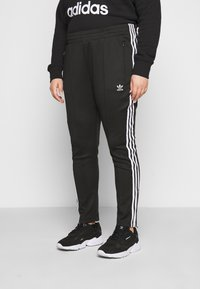 adidas Originals - PANTS - Tracksuit bottoms - black/white - 0