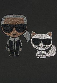 KARL LAGERFELD - IKONIK RHINESTONE  - Print T-shirt - black - 6