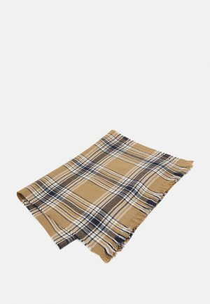 WOVEN LARGE CHECK SCARF - Sjaal - light brown