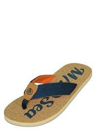 MADSea - T-bar sandals - kork/dunkelblau/orange - 2