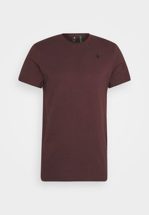 BASE - T-shirt basic - dark fig
