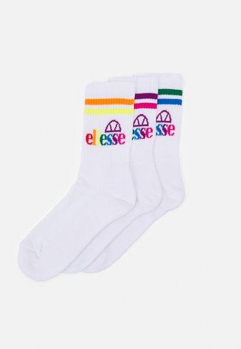 PULLO UNISEX 3 PACK - Socks - white