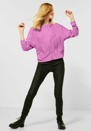 MIT RIPP-STRUKTURMIX - Long sleeved top - lila