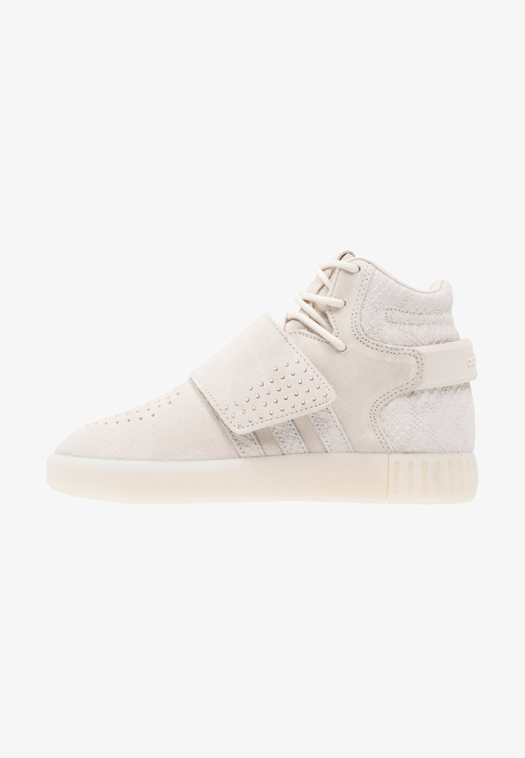 adidas Originals - TUBULAR INVADER - Höga sneakers - clear brown/chalk white