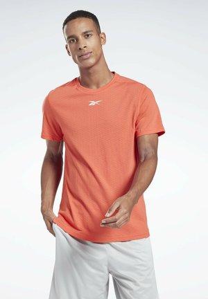 WORKOUT READY MESH T-SHIRT - Print T-shirt - orange