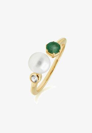 Ring - green, gold