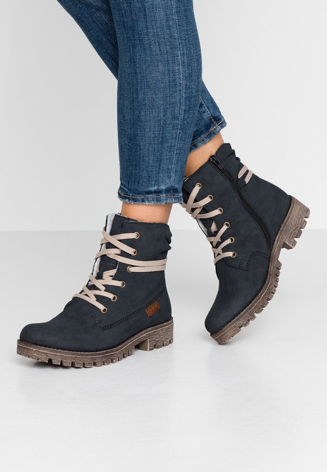Lace-up ankle boots - atlantic/mogano