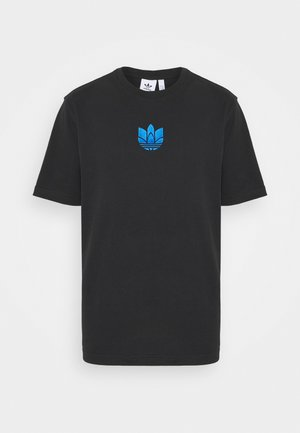 TREFOIL TEE UNISEX - T-shirt med print - black/blue