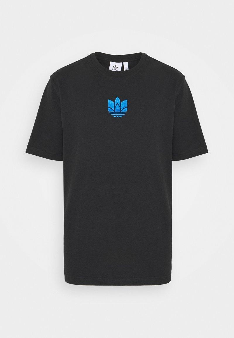 adidas Originals - TREFOIL TEE UNISEX - Print T-shirt - black/blue