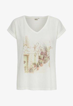 MATILDE - T-shirt med print - snow white