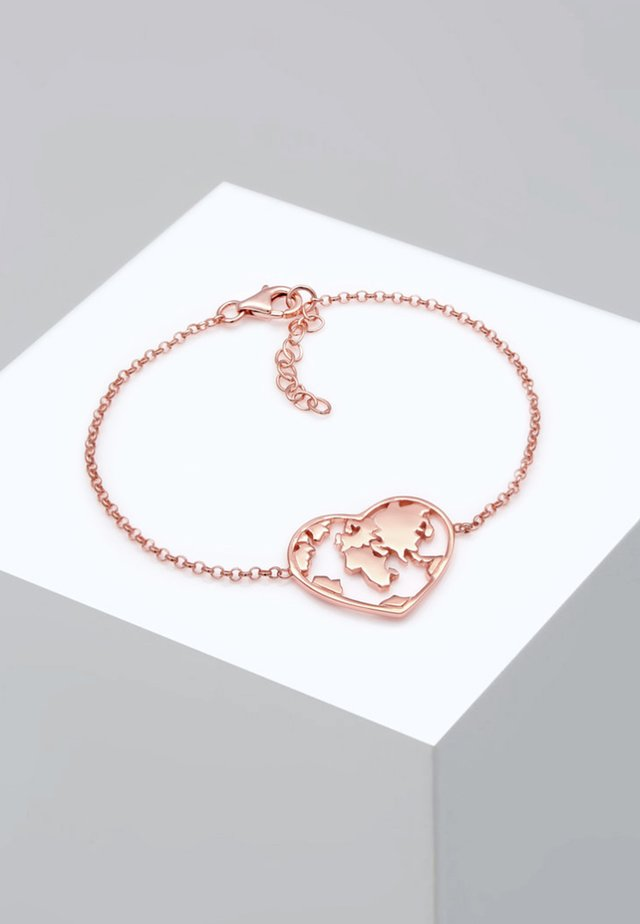 GLOBE HEART - Bracelet - rose gold-coloured