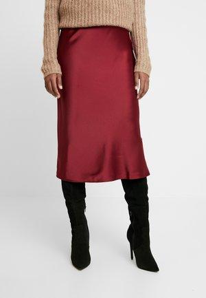 Pencil skirt - burgundy