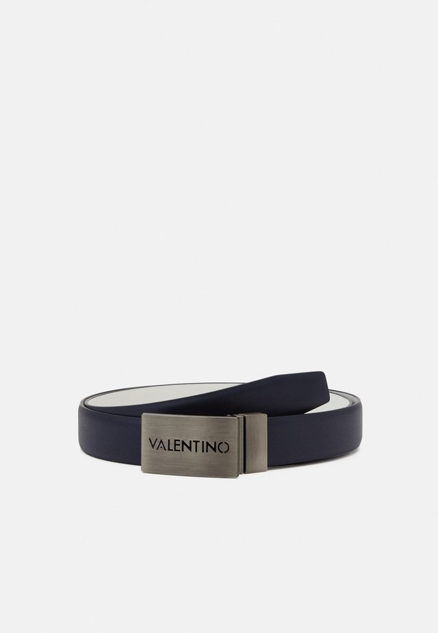 DUSS REVERSIBLE PLAQUE BELT - Belt - bianco/blu