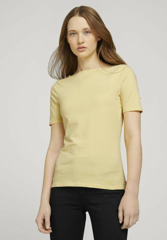 Basic T-shirt - soft yellow