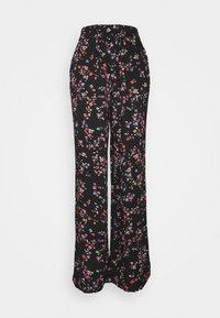 PIECES Tall - PCLALA WIDE PANTS - Pantaloni - black - 0