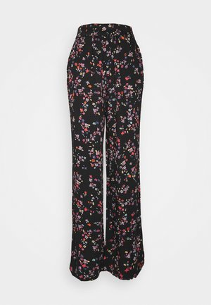 PCLALA WIDE PANTS - Trousers - black