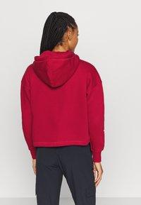 Champion - HOODED CROP LEGACY - Bluza z kapturem - dark red - 2
