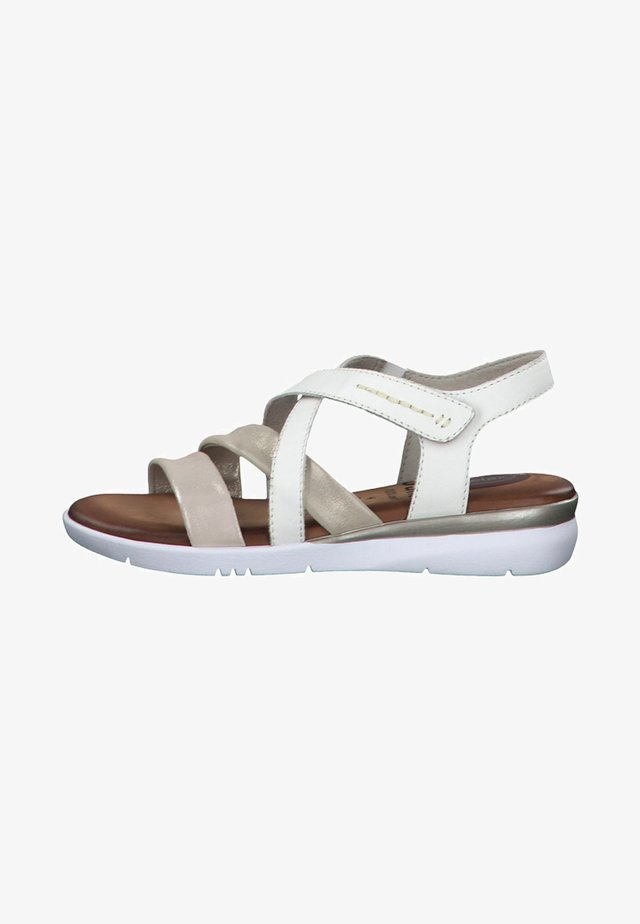 Wedge sandals - white/silver