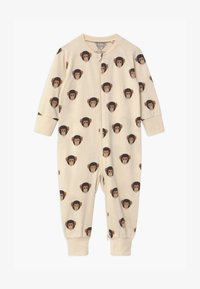 Lindex - MONKEY FACES UNISEX - Pyjamas - light beige - 0