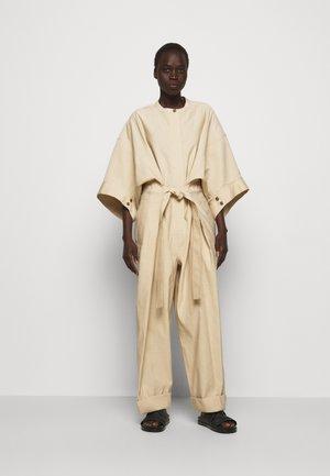 SMOCKED WAISTBAND - Jumpsuit - beige