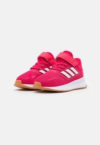 adidas Performance - RUNFALCON I UNISEX - Neutrální běžecké boty - power pink/footwear white - 1