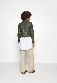 Ibana - FABIENNE - Leather jacket - green - 2