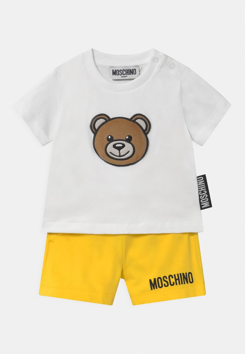 MOSCHINO - SET UNISEX - Shorts - white/yellow