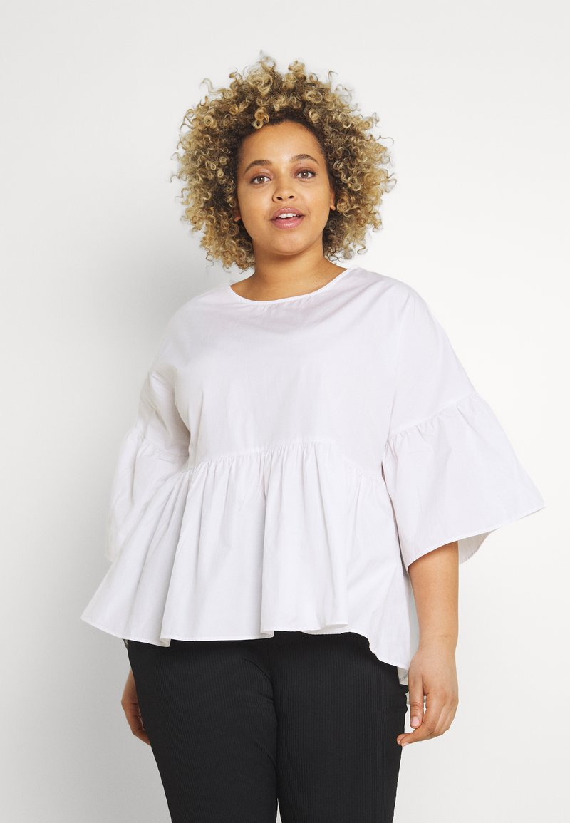 Simply Be - SLEEVE SMOCK - Camicetta - white