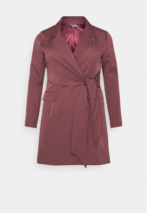 WRAP TIE  - Vestito estivo - burgundy