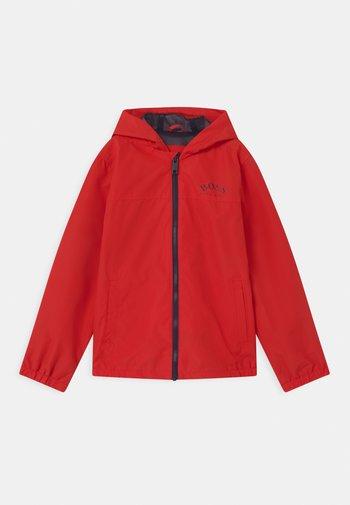 Waterproof jacket - bright red