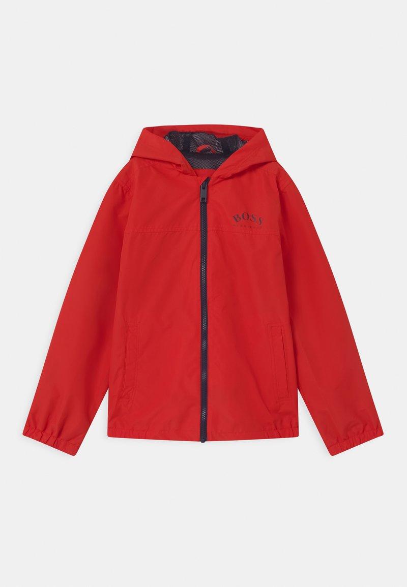 BOSS Kidswear - Vodotěsná bunda - bright red