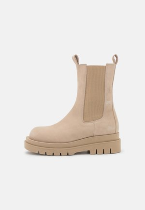 TEODORA - Platform ankle boots - nude