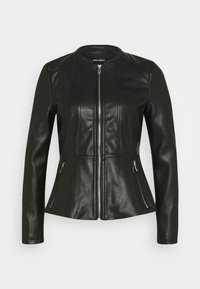 Vero Moda - VMBUTTERALBA COATED JACKET - Faux leather jacket - black - 4