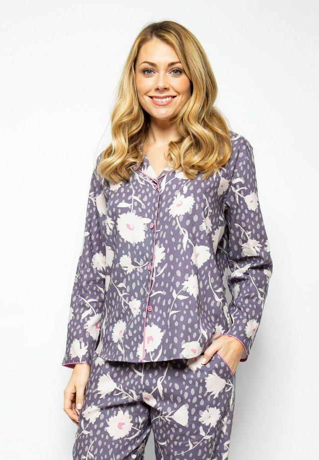 Pyjamasöverdel - grey floral