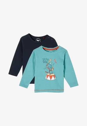 2ER-PACK - Long sleeved top - turquoise/navy