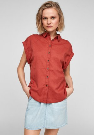 Button-down blouse - rust