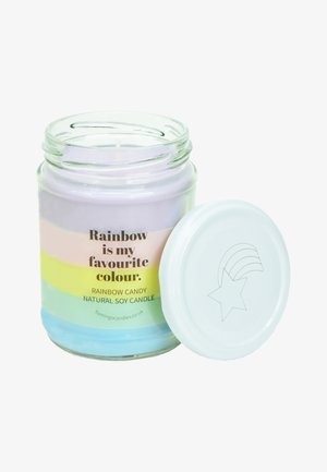 CANDLE - Scented candle - pastel rainbow